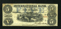 Canadian Currency: , Toronto, CW- The International Bank $5 September 15, 1858 Ch. # 380-10-14-14. ...