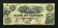 Canadian Currency: , Clifton, PC- The Bank of Clifton $5 Oct. 1, 1859 Ch. #125-12-02-06. ...