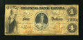 Canadian Currency: , Toronto, CW- The Colonial Bank of Canada $4 Apr. 14, 1859 Ch. #130-10-02-08. ...