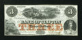 Canadian Currency: , Clifton, PC- The Bank of Clifton $3 Oct. 1, 1859 Ch. #125-10-04-04. ...
