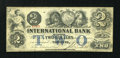 Canadian Currency: , Toronto, CW- The International Bank $2 September 15, 1858 Ch. #380-10-14-12. ...