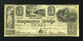 Canadian Currency: , Queenston, UC- The Niagara Suspension Bridge Bank $3 July 1, 1841Ch. # 535-10-06-04. ...