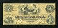 Canadian Currency: , Toronto, CW- The Colonial Bank of Canada $3 May 31, 1859 Ch. #130-10-02-06. ...