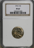 Proof Buffalo Nickels: , 1914 5C PR67 NGC. NGC Census: (66/9). PCGS Population (62/9).Mintage: 1,275. Numismedia Wsl. Price for NGC/PCGS coin in PR...
