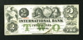Canadian Currency: , Toronto, CW- The International Bank $2 September 15, 1858 Ch. # 380-10-06-12. ...