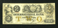 Canadian Currency: , Toronto, CW- The International Bank $2 September 15, 1858 Ch. #380-10-12-12. ...
