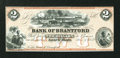 Canadian Currency: , Sault St. Marie, CW- The Bank of Brantford $2 Nov. 1, 1859 Ch. #40-12-04R Remainder. ...