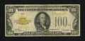 Small Size:Gold Certificates, Fr. 2405 $100 1928 Gold Certificate. Very Good.. ...