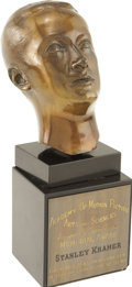 Movie/TV Memorabilia:Awards, Stanley Kramer's Irving G. Thalberg Memorial Award. There is no more richly coveted award for a Hollywood producer than the ... (Total: 1 Item)