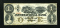 Canadian Currency: , Toronto, CW- The International Bank $1 September 15, 1858 Ch. #380-10-08-08. ...