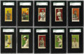 """Baseball Cards:Sets, 1908-1909 E102 Anonymous """"Set of 25"""" Complete SGC-Graded SetWithout Variations (25). The manufacturer of this rare issue is..."""