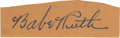 Autographs:Letters, 1930's Babe Ruth Signed Cut Signature. A wonderfully bold autograph from the man who revolutionized the way baseball is pla...