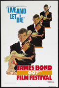 "Movie Posters:James Bond, James Bond Film Festival (United Artists, R-1976). One Sheet (27"" X 41"") Style A. Tri-folded. Re-release of ""Live and Let Di..."