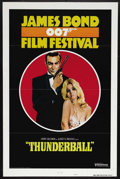 "Movie Posters:James Bond, James Bond Film Festival (United Artists, R-1975). One Sheet (27"" X41"") Style B. Tri-folded. Re-release of ""Thunderball"" (1..."