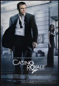 "Movie Posters:James Bond, Casino Royale (MGM, 2006). One Sheet (27"" X 40""). James BondAction. Starring Daniel Craig, Eva Green, Mads Mikkelsen, Judi ..."