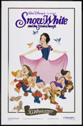 "Movie Posters:Animated, Snow White and the Seven Dwarfs (Buena Vista, R-1987). One Sheet (27"" X 41""). Animated Musical. Starring the voices of Adria..."