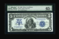 Large Size:Silver Certificates, Fr. 275 $5 1899 Silver Certificate PMG Gem Uncirculated 65 EPQ. PMGhas given this lovely Chief a trio of positive comments:...