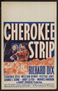 "Movie Posters:Western, Cherokee Strip (Paramount, 1940). Window Card (14"" X 22""). Western.Starring Richard Dix, Florence Rice, William Henry, Vict..."