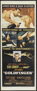 """Movie Posters:James Bond, Goldfinger (United Artists, 1964). Insert (14"""" X 36""""). James Bond. Starring Sean Connery, Honor Blackman, Gert Frobe, Shirle..."""
