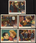 """Movie Posters:Drama, Any Number Can Play (MGM, 1949). Lobby Cards (5) (11"""" X 14""""). Drama. Starring Clark Gable, Alexis Smith, Wendell Corey, Audr... (Total: 5 Items)"""