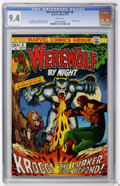 Bronze Age (1970-1979):Horror, Werewolf by Night #8 (Marvel, 1973) CGC NM 9.4 White pages....
