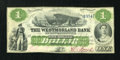 Canadian Currency: , Moncton, NB- The Westmorland Bank $1 Aug. 1, 1861 Ch. # 800-12-02R Remainder. ...