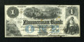 Canadian Currency: , Elgin, PC- The Zimmerman Bank $1 Aug. 1, 1856 Ch. # 815-12-04-02RRemainder. ...
