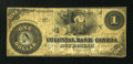 Canadian Currency: , Toronto, CW- The Colonial Bank of Canada $1 Apr. 6, 1859 Ch. #130-10-02-02. ...