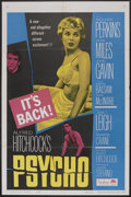 "Movie Posters:Hitchcock, Psycho (Paramount, R-1965). One Sheet (27"" X 41""). Hitchcock...."