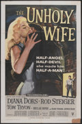"Movie Posters:Crime, The Unholy Wife (RKO, 1957). One Sheet (27"" X 41""). Crime...."