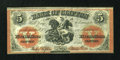 Canadian Currency: , Clifton, PC- The Bank of Clifton $5 Sept. 1, 1861 Ch. # 125-12-18....
