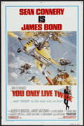 "Movie Posters:James Bond, You Only Live Twice (United Artists, R-1980). One Sheet (27"" X41""). James Bond...."