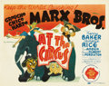 "Movie Posters:Comedy, At The Circus (MGM, 1939). Title Lobby Card (11"" X 14"")...."