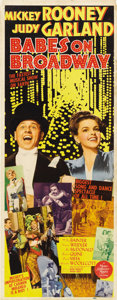 "Movie Posters:Musical, Babes on Broadway (MGM, 1941). Insert (14"" X 36"")...."