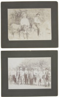 Photography:Cabinet Photos, Two Large Photographs of Men and Donkeys ca 1890s-1900s ... (Total:2 Items)
