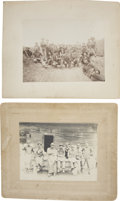 Photography:Cabinet Photos, Lot of two Large Cabinet Card Photographs Working Men ca 1890s -... (Total: 2 Items)