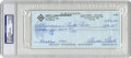 Autographs:Checks, 1993 Curt Flood Signed Check, PSA Authentic. The man who can said to have created the need for the modern era of Free Agency...