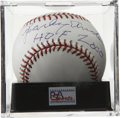 "Autographs:Baseballs, Sparky Anderson ""HOF 2000"" Single Signed Baseball, PSA Gem Mint 10.The Hall of Fame skipper with a World Series ring in eac..."