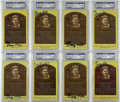 Autographs:Post Cards, George Kell Signed Gold Hall of Fame Plaques, PSA-Graded Group of 8. In an era when the talent level in the league suffered...