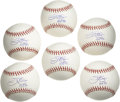 "Autographs:Baseballs, Jim Palmer ""HOF 90"" Single Signed Baseballs Lot of 6. The greatestpitcher in the history of the Baltimore Orioles has plac..."