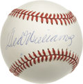 Autographs:Baseballs, Ted Williams Single Signed Baseball. Never before or since Ted Williams has there been a slugger more concerned with the sc...