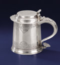 Silver Holloware, American:Tankards, AN AMERICAN COLONIAL SILVER TANKARD. Richard Van Dyke, New York,New York, circa 1750. Marks: conjoined RVD. 7-3/8 inche...
