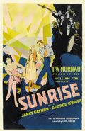 "Movie Posters:Melodrama, Sunrise (Fox, 1927). Window Card (14"" X 22"")...."