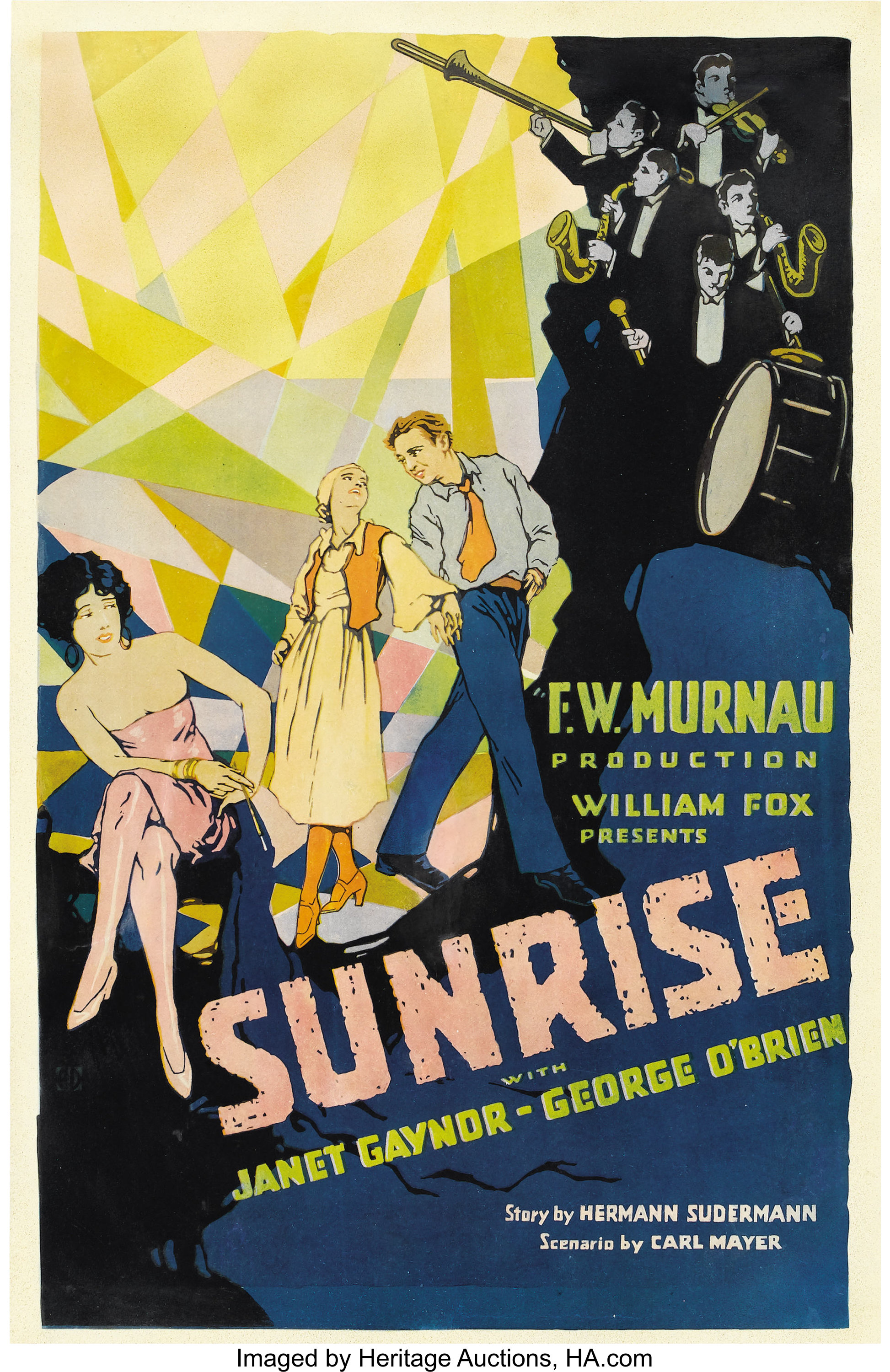 Sunrise (Fox, 1927). Window Card (14
