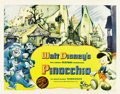 "Movie Posters:Animated, Pinocchio (RKO, 1940). Half Sheet (22"" X 28"") Style A...."
