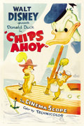 "Movie Posters:Animated, Chips Ahoy (RKO, 1956). One Sheet (27"" X 41"")...."