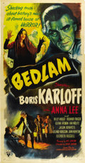 "Movie Posters:Horror, Bedlam (RKO, 1946). Three Sheet (41"" X 81"")...."