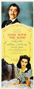 "Movie Posters:Academy Award Winner, Gone with the Wind (MGM, 1939). Insert (14"" X 36"")...."