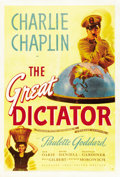 "Movie Posters:Comedy, The Great Dictator (United Artists, 1940). One Sheet (27"" X 41"")...."