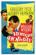 "Movie Posters:Romance, Roman Holiday (Paramount, 1953). One Sheet (27"" X 41"")...."